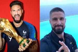 Olivier Giroud cạo đầu sau khi Pháp vô địch World Cup