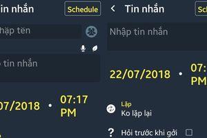 Cách hẹn giờ gửi SMS, email, đăng Facebook trên smartphone