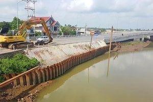 Khắc phục xong sự cố sạt taluy đường dẫn cầu ở Hải Phòng