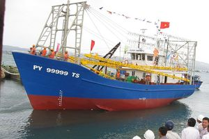 Bán đấu giá tàu vỏ thép đầu tiên ở Phú Yên