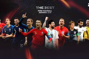 Top 10 ứng viên giải 'The Best': Có Ronaldo và Messi, Neymar bị loại