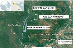 Đập thủy điện ở Lào đã nứt một ngày trước khi vỡ