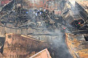 Hiện trường vụ cháy chợ Gạo Hưng Yên