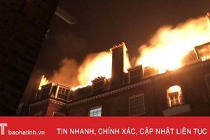 Cháy chung cư 5 tầng ở Anh, 100 lính cứu hỏa được điều động