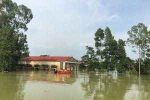 Hơn 6.500 người dân vùng lũ huyện Chương Mỹ vẫn đang phải sơ tán