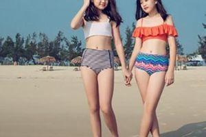 Hai con gái của ca sĩ Mỹ Lệ đã lớn vụt, khoe dáng với bikini