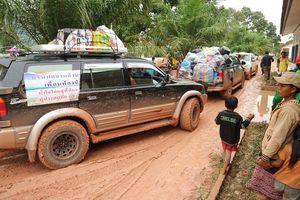 Lực lượng cứu hộ quốc tế đổ về Lào cứu trợ sau vụ vỡ đập thủy điện