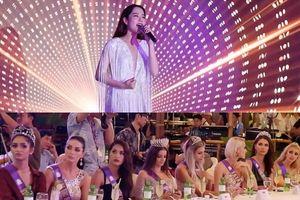 Đây là biểu cảm của các thí sinh Hoa hậu khi nghe Nam Em hát 3 thứ tiếng