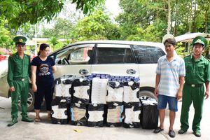 Bắt 2 đối tượng vận chuyển 7.500 gói lá thuốc lá ngoại nhập lậu