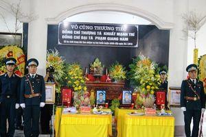 Truy điệu 2 phi công hy sinh theo nghi thức lễ tang Quân đội