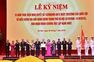Hà Nội vinh dự đón nhận Huân chương Độc lập hạng Nhất