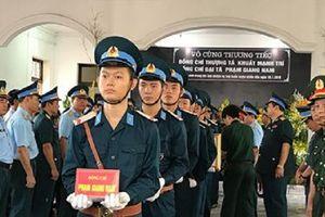 Sáng nay tổ chức Lễ viếng và Lễ truy điệu 2 phi công hy sinh tại Nghệ An