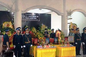 Lễ truy điệu 2 sĩ quan phi công hy sinh tại Nghệ An