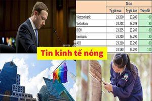 Tin kinh tế nóng: Tổng Giám đốc Facebook bị cổ đông kiện; USD tăng 150 đồng chỉ sau một tuần