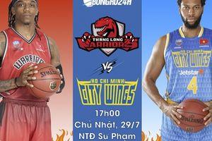 Thang Long Warriors vs Hochiminh City Wings(29/7): Đụng độ lần hai, 'Kẻ ngáng đường' khát khao chiến thắng