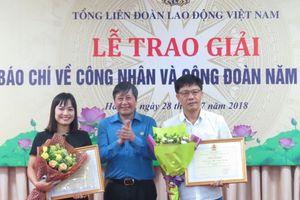 2 tác phẩm đoạt giải A Giải báo chí viết về công nhân và công đoàn