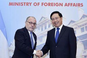 Phó Thủ tướng Phạm Bình Minh tiếp, hội đàm Bộ trưởng Ngoại giao Argentina