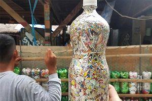 Tái chế chai nhựa làm gạch sinh thái xây nhà