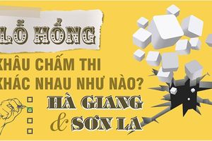 Lỗ hổng chấm thi Hà Giang và Sơn La khác nhau thế nào?
