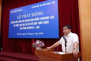 Bộ KH&ĐT quyên góp 21.000 USD ủng hộ nhân dân Lào