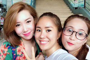 Hình ảnh Thúy Ngân - Lê Phương - Phương Hằng thân thiết như ba chị em
