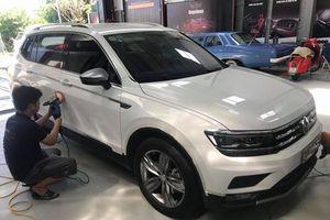 Volkswagen Tiguan Allspace lăn bánh trên phố Việt