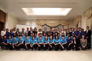 Đại sứ Nhật Bản mở tiệc, chúc tuyển nữ Việt Nam thành công ở ASIAD