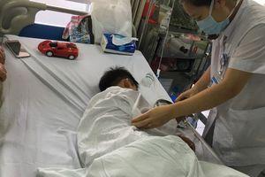 Hà Nội: Kinh hoàng chó nhà cắn đứt môi bé trai 7 tuổi