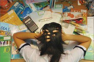 78,5% nguyên nhân căng thẳng của học sinh là do thi cử