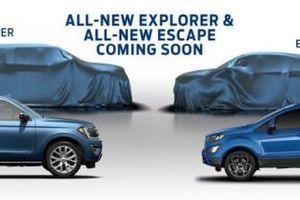 Hé lộ hình ảnh Ford Explorer và Escape thế hệ mới