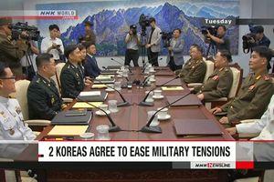 Hàn Quốc và Triều Tiên nhất trí thực hiện các biện pháp hạ nhiệt căng thẳng quân sự