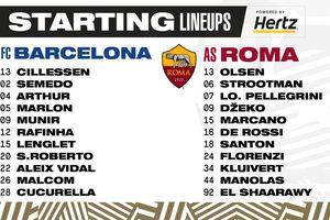 Barcelona thua đậm AS Roma dù hai lần dẫn trước
