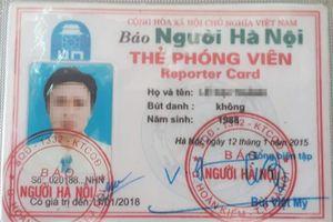 Nam thanh niên tự xưng phóng viên, hành hung cán bộ huyện