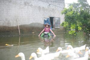 Người dân Thủ đô gồng mình chống lụt