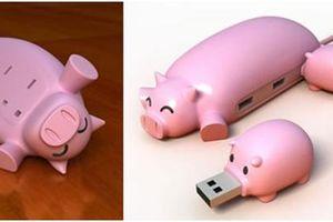 USB Hub Pig Buddies tạo hình bầy heo ngộ nghĩnh, vui nhộn