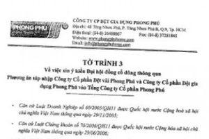 Cổ đông Dệt Phong Phú tức tưởi vì bị 'ép cưới'