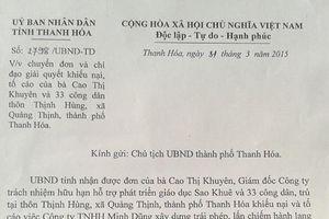 Thanh Hóa: Chỉ đạo làm rõ đơn thư của công dân xã Quảng Thịnh