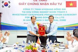 Hyosung chính thức nhận giấy chứng nhận đầu tư dự án 660 triệu USD
