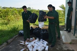 BĐBP Tây Ninh bắt hơn 5.000 gói thuốc lá lậu