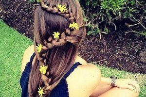10 kiểu tóc đính hoa cúc đẹp mê li