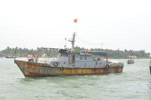 Hải đội 2 BĐBP Quảng Nam cứu nạn thành công tàu cá và 4 thuyền viên
