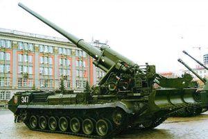 Siêu pháo 203mm 2S7M Malka của Nga lần đầu nhả đạn