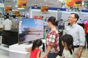 Tiêu thụ ti vi màn hình lớn gia tăng