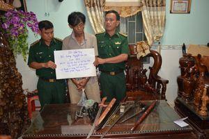 BĐBP Bình Phước: Bắt đối tượng tàng trữ ma túy và vũ khí quân dụng trái phép