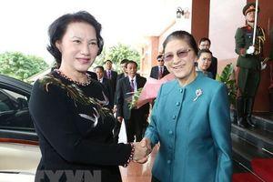 Chủ tịch Quốc hội đến chào Tổng Bí thư, Chủ tịch nước CHDCND Lào