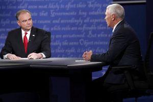Hình ảnh cuộc tranh luận bầu cử của hai 'phó tướng'