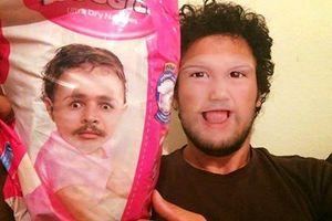 Chết cười với hình ảnh hoán đổi khuôn mặt của cha và con