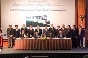 Ký hợp đồng gói thầu quan trọng nhất của dự án đường sắt Nhổn-ga Hà Nội