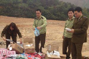 Lào Cai: Xử lý gần 200 vụ buôn bán hàng cấm, hàng lậu