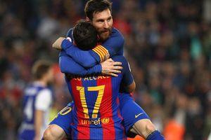 Messi chói sáng, Barca đau tim giành 3 điểm